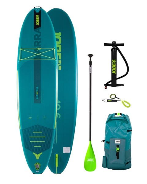 Jobe Yarra 10.6. 2021 Teal- Stand Up Paddle Board iSUP Paket